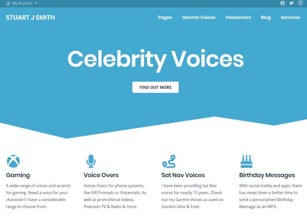 celebrity voices screenshot